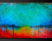 Oxidized Metal 10- Abstract Acrylic Painting on Canvas - 36 x 24 - Highly Textured - Contemporary Modern Wall Art