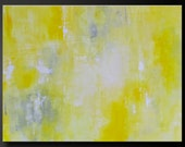 Abstract in Yellow 9 - 40x30 - Abstract Acrylic Painting - Huge - Highly Textured Contemporary Original Wall Art