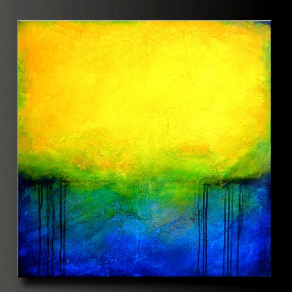 Paradise - 30 x 30 - Acrylic Abstract Painting - Highly Textured