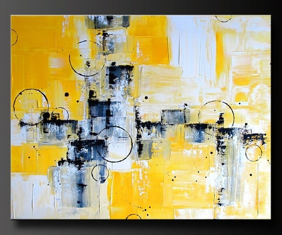 Abstract In Yellow - Acrylic Abstract Painting - Highly Textured