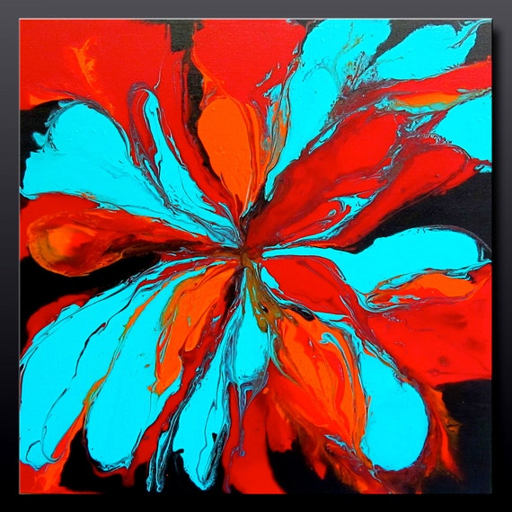 Flower Power - 24 x 24 - Abstract Acrylic Painting