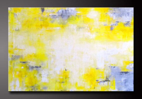Abstract in Yellow 8 - Abstract Acrylic Painting - Highly Textured