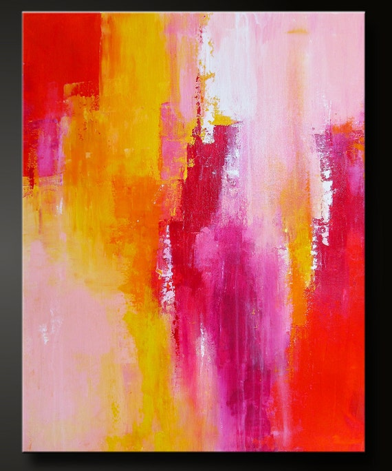 Sorbet 2 - 28 x 22 - Abstract Acrylic Painting - Contemporary Fine Art - Modern Wall Art
