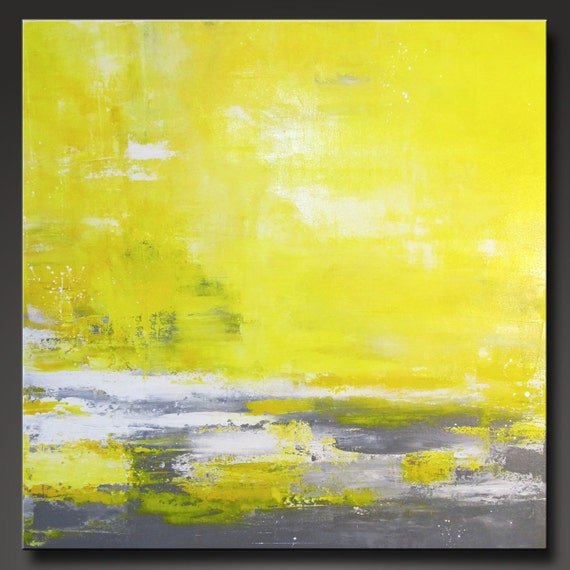 Suns Rays - 30 x 30 - Abstract Acrylic Original Painting - Huge- Contemporary Design