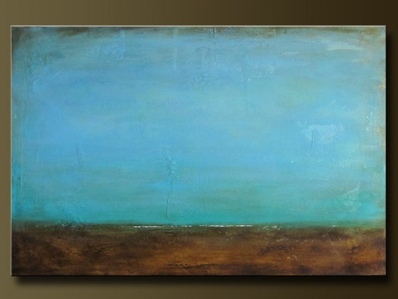 Adrift - 24 x 36 - Abstract Acrylic Painting - Contemporary - Textured - Landscape