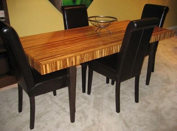 Tigerwood / Neopolitan Bamboo Plywood Table
