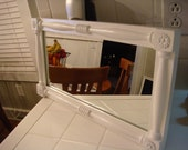 Recyled/Restored Cornwall Wood Product Mirror (Shabby Chic Look)