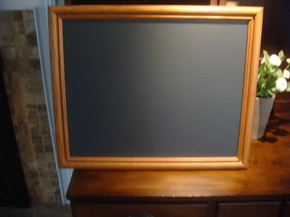 Chalkboard, Oak Frame, Great for Home or Children (18 1/2 x 22 1/2 inches)