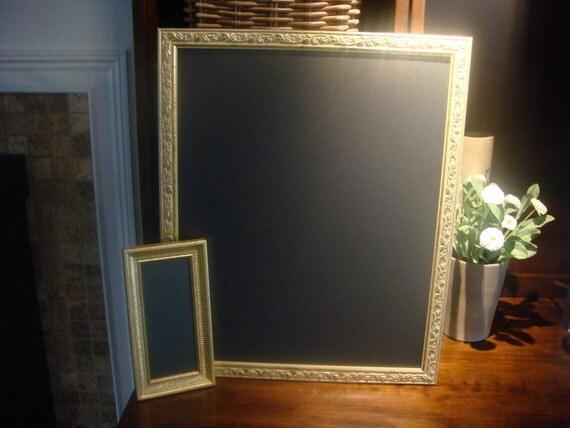 Chalkboard Set, Two Ornate Gold Framed Chalkboards