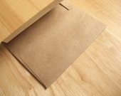 25 Recycled Envelopes - Grocery Bag Kraft A7 - with free cello bags