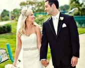 clearance sale Silver Beaded Bridal Sash, Wedding Belt