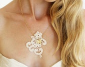Princess rose - Lace necklace -  ready to ship
