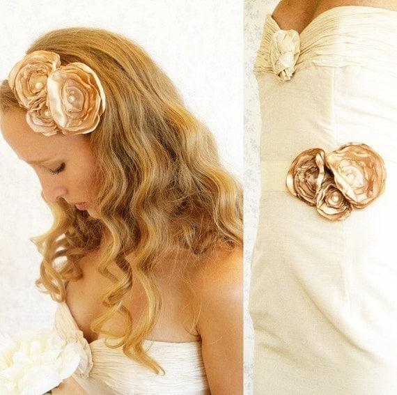 Buy 1 Get 1 SALE -English Garden sash or headband - a Versatile Piece