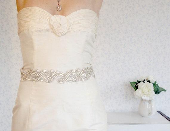 25% Holidays Sale Best price on etsy - Bridal belt accessory Wedding sash- 440 Crystals sash - bridal sash