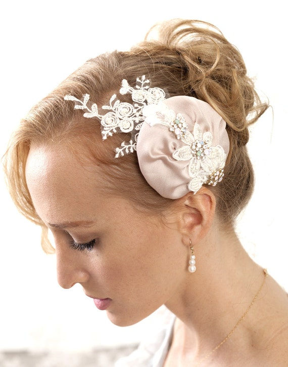 Buy 1 get 1 sale -Bridal rhinestone headpiece -Bridal crystal headpiece, blush hair comb with mint, pink and aqua Crystals and beaded lace