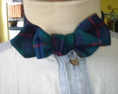 Canadian Navy Tartan Bow Tie 37 inch length Pointed End