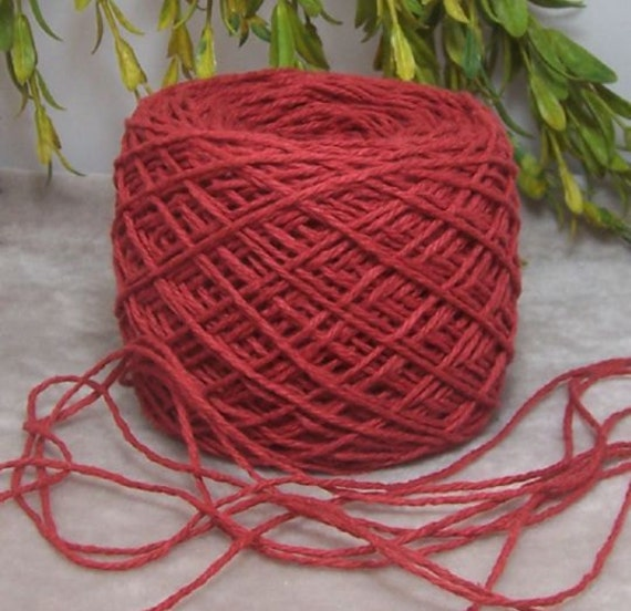 Rusty Red All Cotton Yarn Soft Great for Kids or Home Decor B15 E90