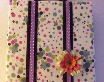 Small Bow Board - Wall Art - Little Girls Hair Clip Storage - Flower Barrette Holder - OOAK