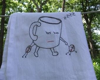 Need coffee tea towel- hand stitched