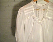 Vintage Sweetheart Blouse, Size S/M