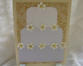 Handmade Wedding Cake Card or Invitation-reserved for ashleylynn27
