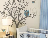 Owl on Tree Wall decal Vinyl,  Nursery, children,  Kid Wall Decals Wall Sticker wall decor, home decor - 090 - NouWall