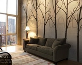 EXTRA FREE 10 BIRDS- Tree Wall Decal - Winter Tree wall decals Wall Sticker - wall decor