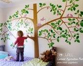 Giant Tree Wall Decal Wall Sticker , Kids Wall Decal , Home Decor, Wall Decor, wallpaper- 064