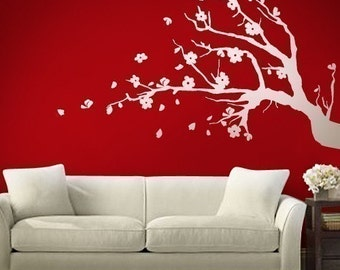wall decals wall stickers- Cherry Blossom Tree Branch -  006