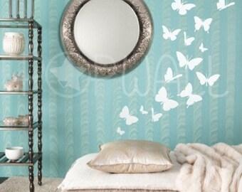 Vinyl Wall Art Sticker Decal - Butterflies  -  024