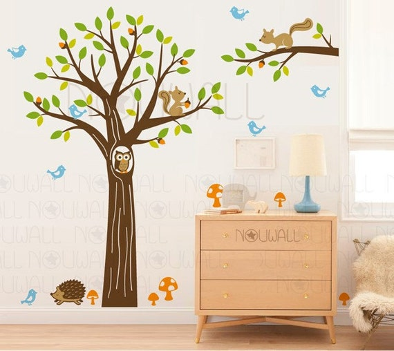 Art vinyl Wall Decals Wall Stickers Tree Decal -Wooldrich Woodland Land - 103 -