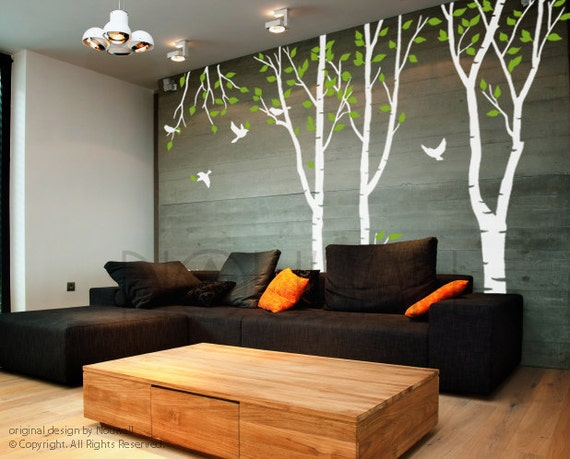 Wall Decal Art Wall Sticker Tree Decal – forest tree Wall decal by NouWall