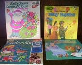 Vintage Childrens Records Set of Four