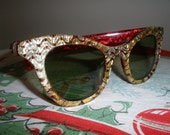 May Sale - 20% Off - Vintage Cat Eye Sunglasses