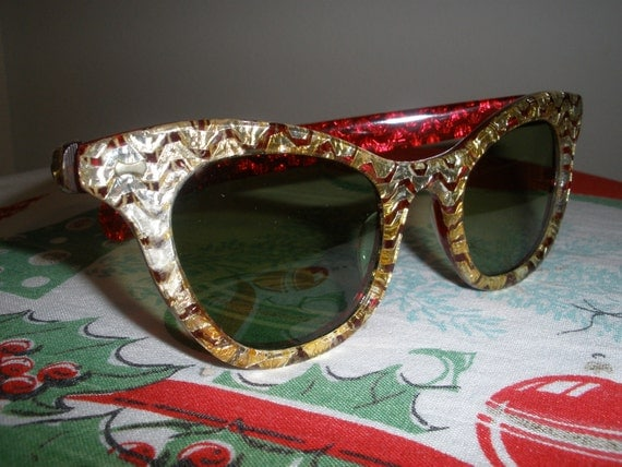 May Sale - 20% Off - Vintage Cat Eye Sunglasses