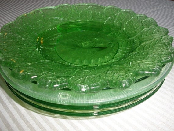Mismatched Vintage Glass Dessert or Salad Plates