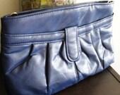 SALE - Was 8 - Vintage Navy Blue Clutch Purse