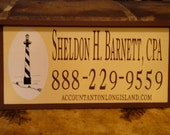 Custom Wood Sign Sheldon H. Barnett, C P A