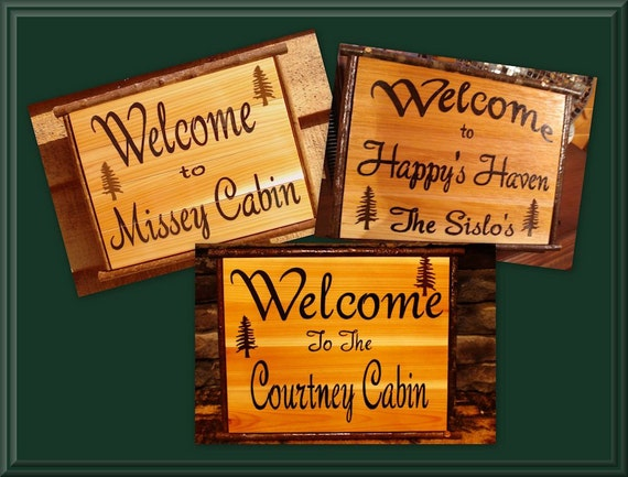 Home Decor Personalized Custom Wood Sign Wood Sign Welcome To Your