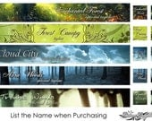 Choose One Slim 3 Piece Set - Deep Woods - Banner/Avatar Package