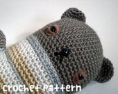 crochet pattern - geoffrey bear amigurumi stuffed animal plushie toy doll - (instant download)