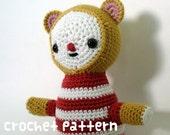crochet pattern - yellow bear (shipped via email)