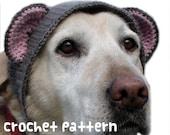 crochet pattern - large teddy bear dog hat - pet halloween costume amigurumi kawaii big labrador lab disguise - (instant download)
