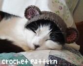 crochet pattern - teddy bear pet hat - cat halloween costume amigurumi kawaii small dog chihuahua disguise - (instant download)
