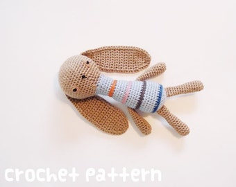crochet pattern - bunny rabbit amigurumi stuffed animal plushie baby shower gift - (instant download)