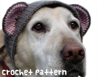 crochet pattern - large teddy bear dog hat - pet halloween costume amigurumi kawaii big labrador lab disguise - (instant download)