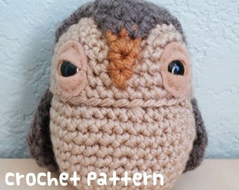 crochet pattern - oswald owl - (shipped via email)