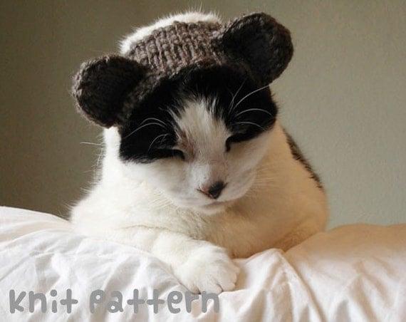 knitting pattern - bear pet costume