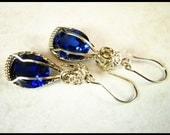 SAPPHIRES IN WHITE GOLD  FREE SHIPPING TO USA AND CANADA