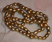 Bright Brass Oval Beads